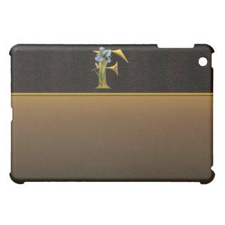 F Gold Iris Monogram  iPad Mini Cases