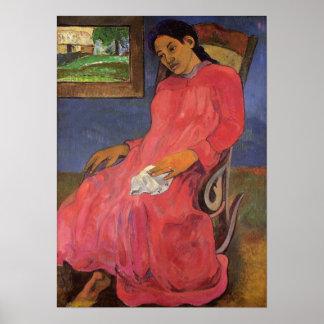 'Faaturuma (Melancholy)' - Paul Gauguin Print