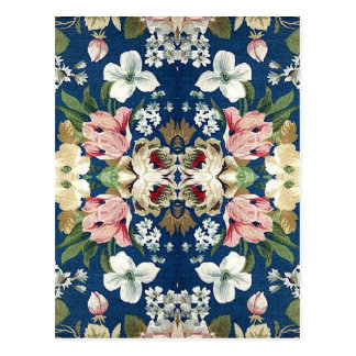 Fabric Floral Decorative Background Pattern Postcards