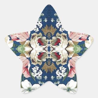 Fabric Floral Decorative Background Pattern Sticker