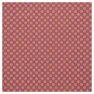 Fabric: Orange Purple Dots Fabric