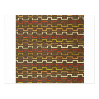Fabric Textures Vintage Retro 70s Zig Zag Pattern Post Cards