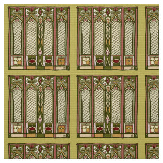 """Fabric with """" Arts and Crafts"""" Stylized Pattern"""