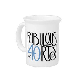 Fabulous 40 black blue Pitcher