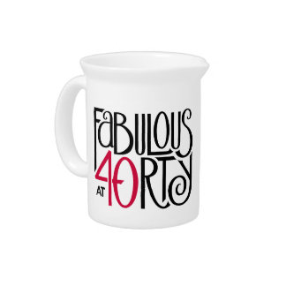 Fabulous 40 black red Pitcher