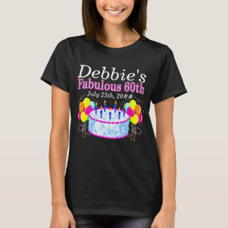 FABULOUS 60TH PARTY PERSONALIZED BIRTHDAY T SHIRT