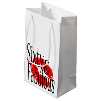 Fabulous and Sixty Small Gift Bag