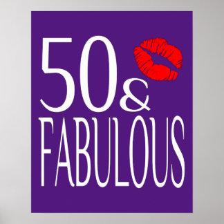 Fabulous Fifty in Purple Poster