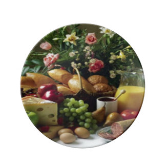 FABULOUS FOOD FEAST DECORATIVE PORCELAIN PLATE 8.5
