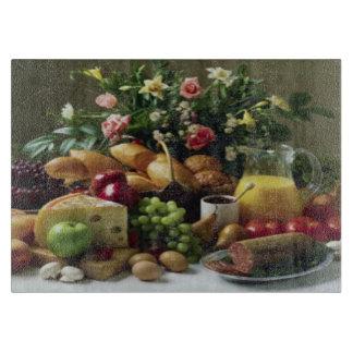 FABULOUS FOOD FEAST GLASS CUTTING BOARD 11x8