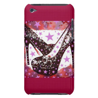 Fabulous Glamourous Pink Purple High Heels Stars iPod Case-Mate Cases