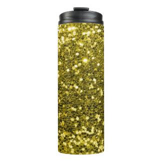 Fabulous Gold Glitter Faux Glitter Sparkle Thermal Tumbler
