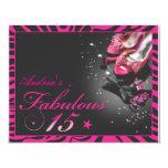 """Fabulous Quinceañera! 4.25"""" X 5.5"""" Invitation Card"""
