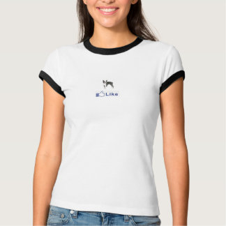 Facbook Boston terrier LIKE T-Shirt