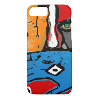 Face behind hands phone case