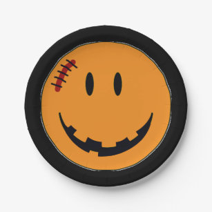 Face Halloween Style ID224 Paper Plate  sc 1 st  Zazzle NZ & Happy Face Grinning Face Plates | Zazzle.co.nz