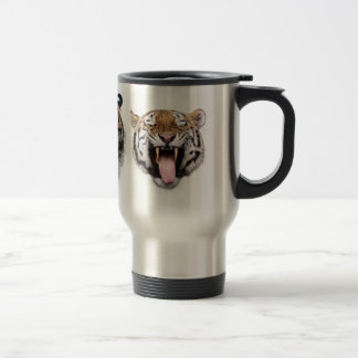 Face of tiger stainless steel travel mug