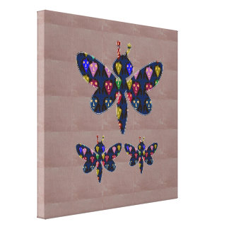 Face Painted DRAGON FLY insect  navinJOSHI NVN148 Canvas Print