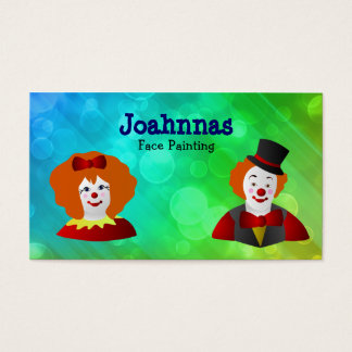 224 clown entertainer business cards and clown entertainer business face painting business cards colourmoves