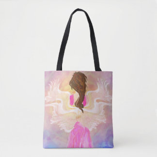 Face The Sun Angel Art Tote Bag