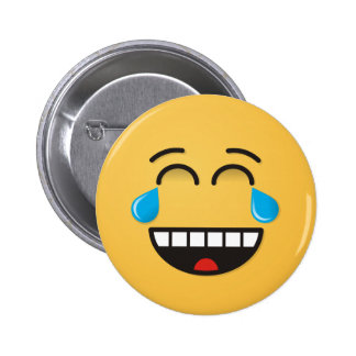 Face With Tears of Joy 6 Cm Round Badge