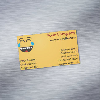 Face With Tears of Joy Magnetic Business Cards