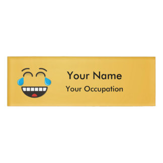 Face With Tears of Joy Name Tag