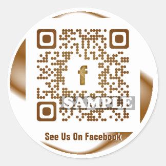 Facebook QR Code Sticker (Template Net2tag QR#545)