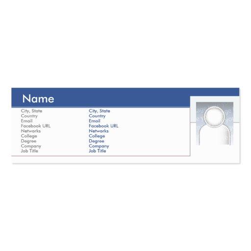 Facebook - Skinny Business Cards