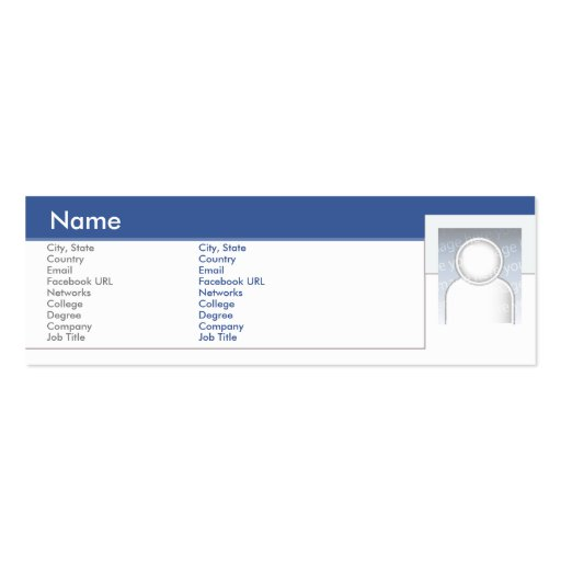 Facebook - Skinny Pack Of Skinny Business Cards