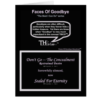 Faces Of Goodbye – Restrained Desire Lavender Card