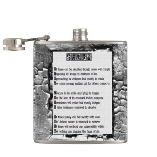 Faces of Sin Hip Flask