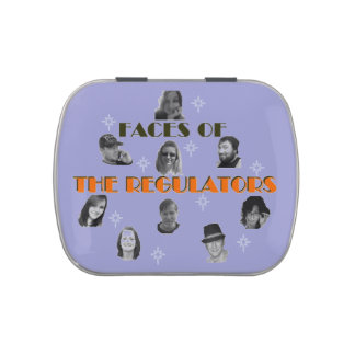 Faces of The Regulators Jelly Belly candy Tin