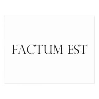 factum est Latein latin Postkarte