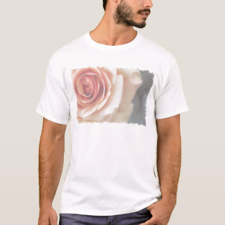 Faded and Framed Peach Rose T-Shirt
