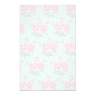 Faded pink roses stationery