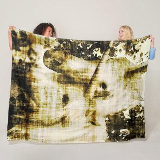 Faded Unicorn Grunge Plush Fleece Blanket