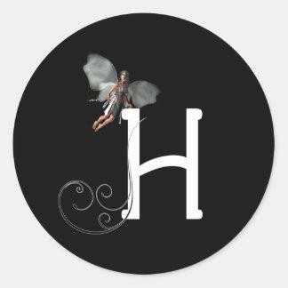 Fairy Alphabets Classic Round Sticker