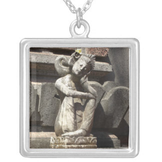Fairy/Angel statue Silver Plated Necklace