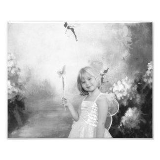 fairy in the garden photo print
