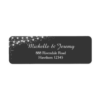 fairy lights return address labels