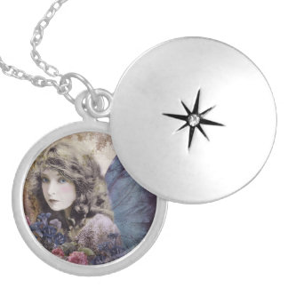 Fairy of the Flowers Silver Plated Necklace