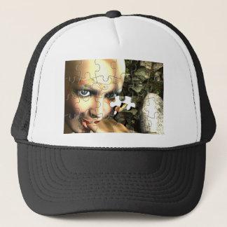 Fairy Profile jigsaw Trucker Hat