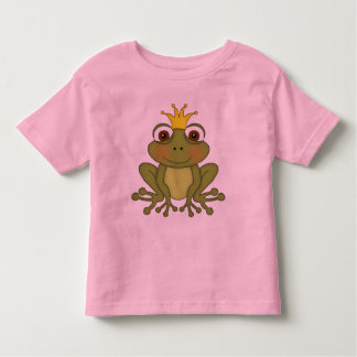 Fairy Tale Frog Prince With Crown T Shirt