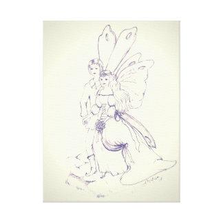 Fairy Wedding canvas. Canvas Print
