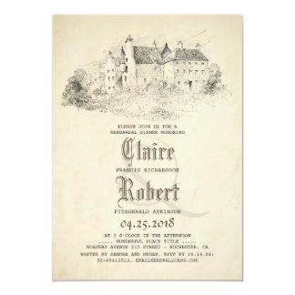 Fairytale Old Castle Vintage Rehearsal Dinner 13 Cm X 18 Cm Invitation Card