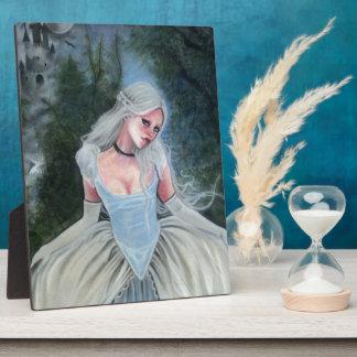 Fairytale Princess Castle glass slipper PLAQUE