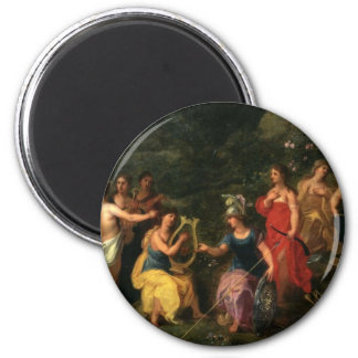 Fairytalesque. Minerva and her muses 6 Cm Round Magnet