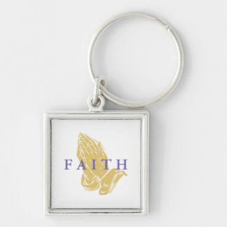 Faith Hands of Prayer Keychain