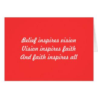 Faith in yourself card